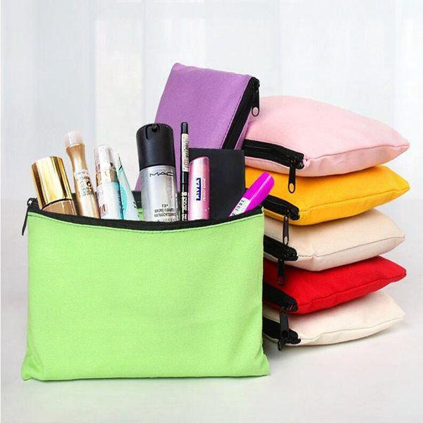 12x20 سنتيمتر فارغة canvaspence الحالات القلم الحقائب القطن أكياس التجميل أكياس ماكياج الهاتف المحمول مخلب حقيبة المنظم