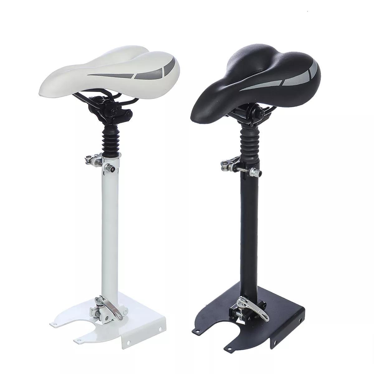 Selle de siège pliable en hauteur réglable pour scooter électrique mijia m365 - blanc