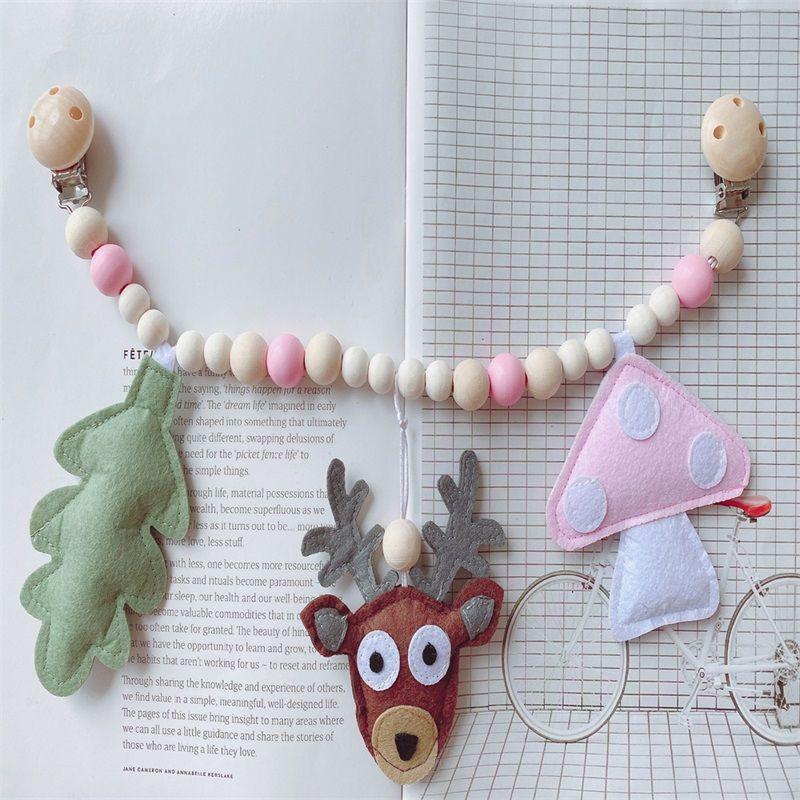 Kangobaby #my weiche life # Niedliche Baby Pram Spielzeug Lotus Holz Beißring mit Muslin Swaddle Decke Baby Armband Y201009 108 Z2