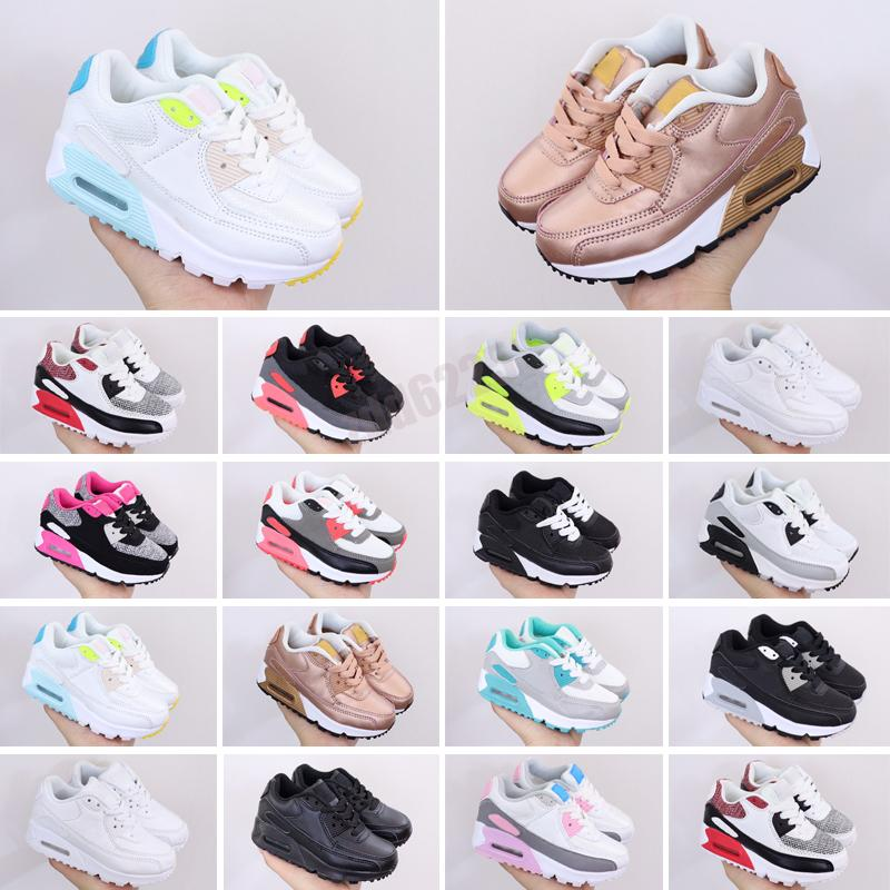 Nike Air Max 90 bambini scarpe da corsa classiche respirazioni essenziali per bambini ragazzo ragazza giovane bambino sport sneakers taglia 28-35