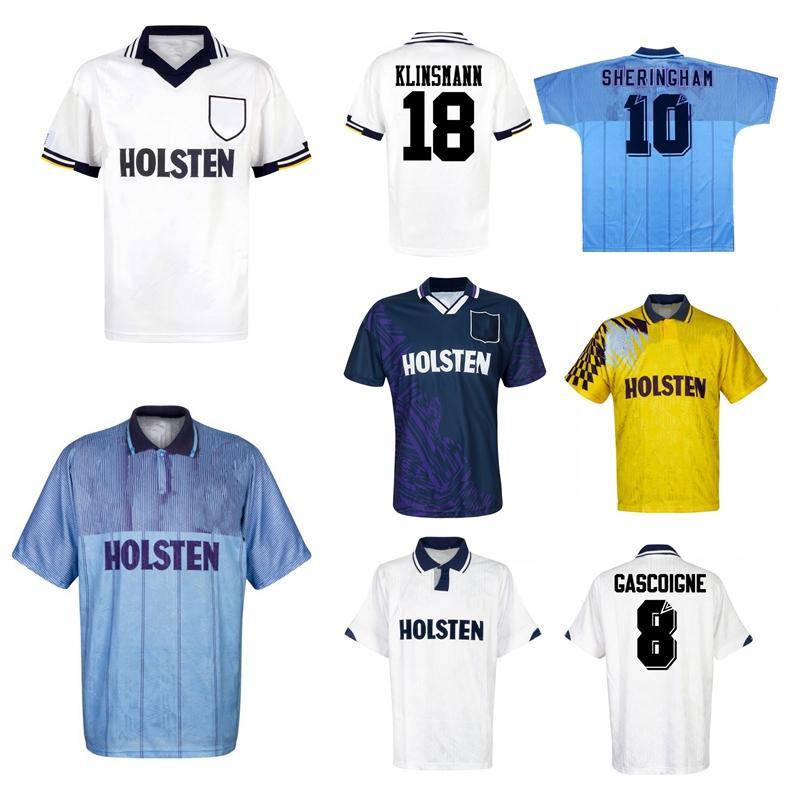 1991 1993 Gascoigne Ретро Футбол Джерси 1992 1994 1995 Mabbutt Ruddock Shringham Lineker Klinsmann Barmby Vintage Classic Football