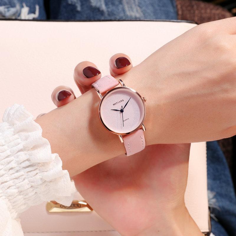 Casual Mulheres Relógios Moda Senhoras Simples Relógio De Couro Pulso de Quartzo Relógio Feminino Zegarek Damski Relogio Feminino relógios de pulso