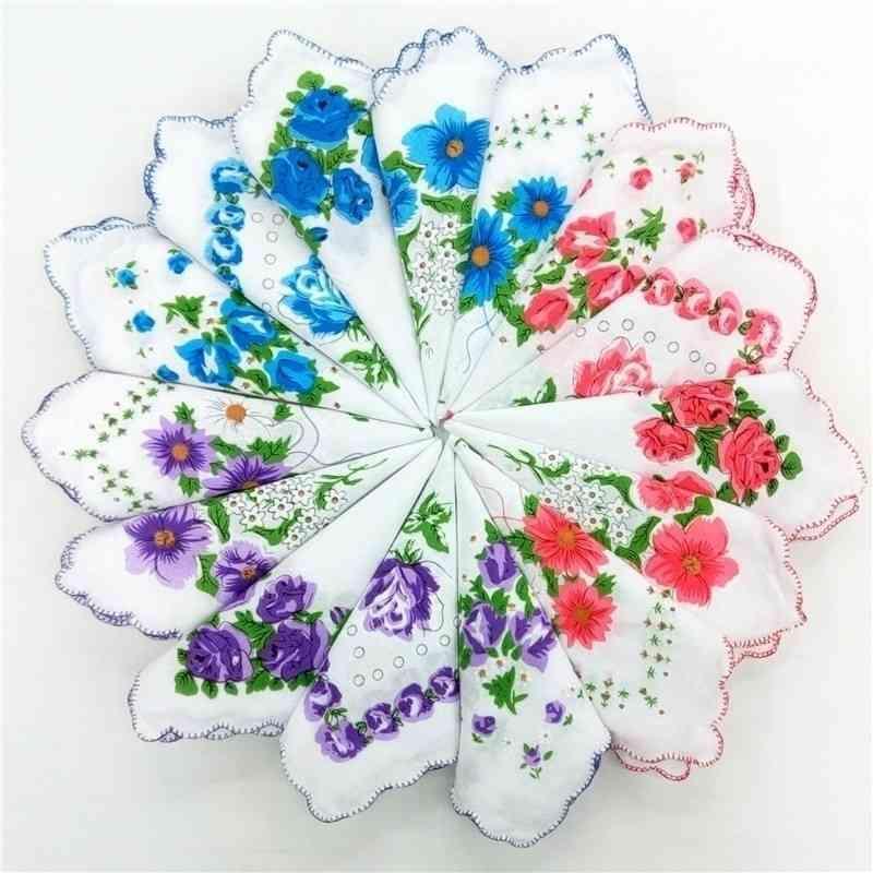 Accueil Textiles Coton Cutter Dames Mouchoirs Craft Vintage Hanky Floral Mariage Mariage Mariage 30 * 30cm Couleur aléatoire GWD6589