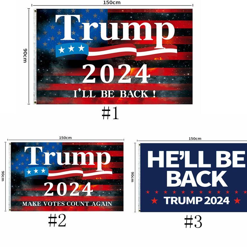 3 Estilo 2024 Trump Biden Flag 90 * 150cm EE