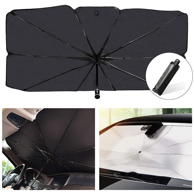 자동차 태양 그늘 Tesla Protector Parasol Sunshade 실내 전면 창 커버 패드 블라인드 우산 앞 유리 보호 여름 액세서리