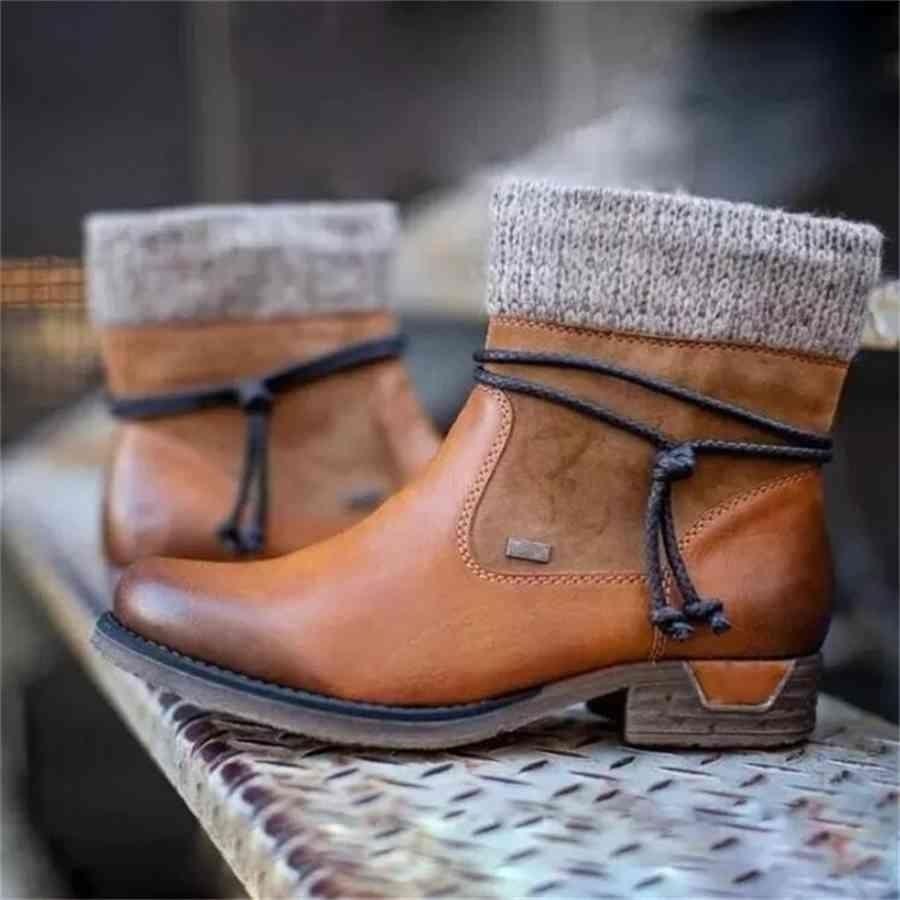 النساء الشتاء الأحذية السيدات الإناث ماركة أزياء عارضة جلدية مصمم الفاخرة الكاحل الفراء الأحذية أحذية امرأة الثلوج whqfc wenshet