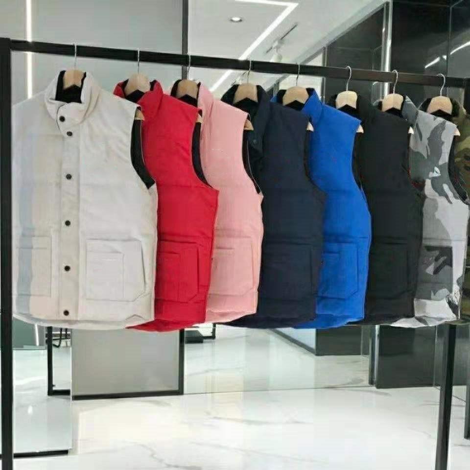 Moda Kış Ceket Erkekler Aşağı Yelek Çiftler Parka Giyim Çok Renkli Boyut S-2XL