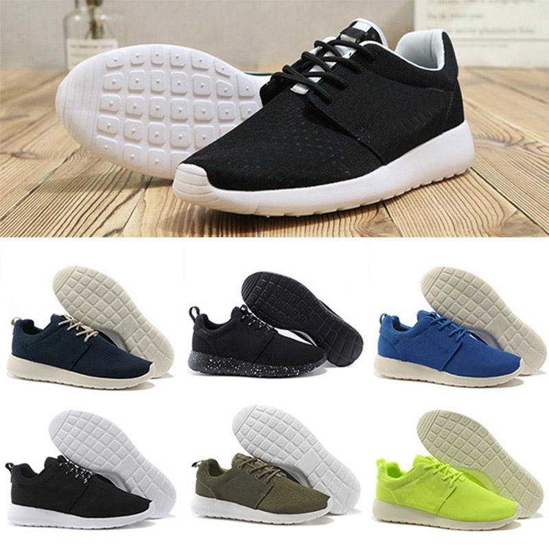 Nike roshe 1.0 3.0 running shoes homens mulheres preto baixo Leve Respirável London Olympic Sports Sneakers mens Formadores tamanho 36-45