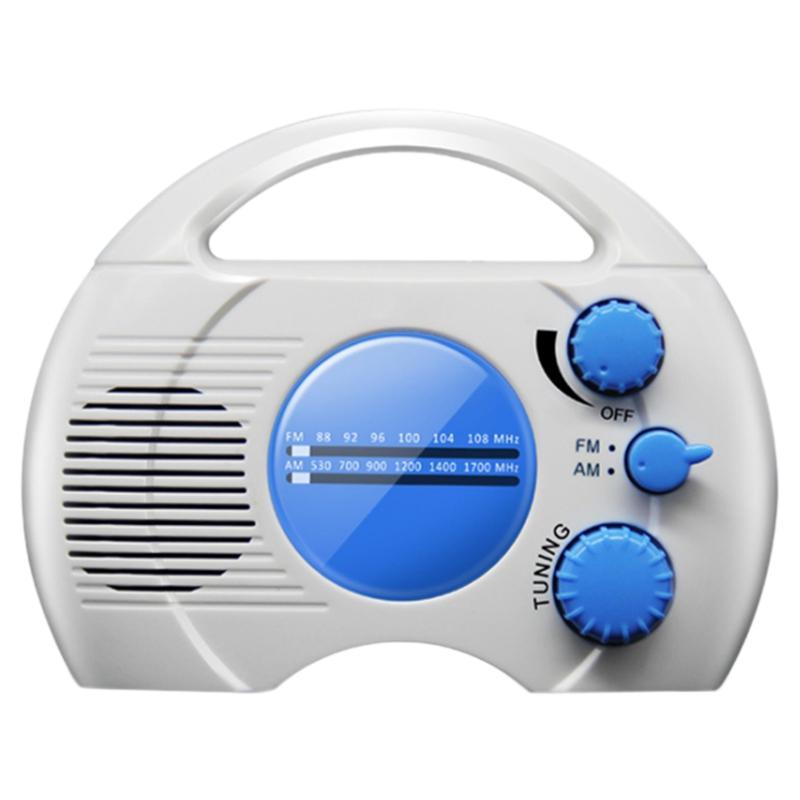 Radio impermeabile di classe portatile 5 AM / FM Bagno Appeso ricaricabile 1000mAh