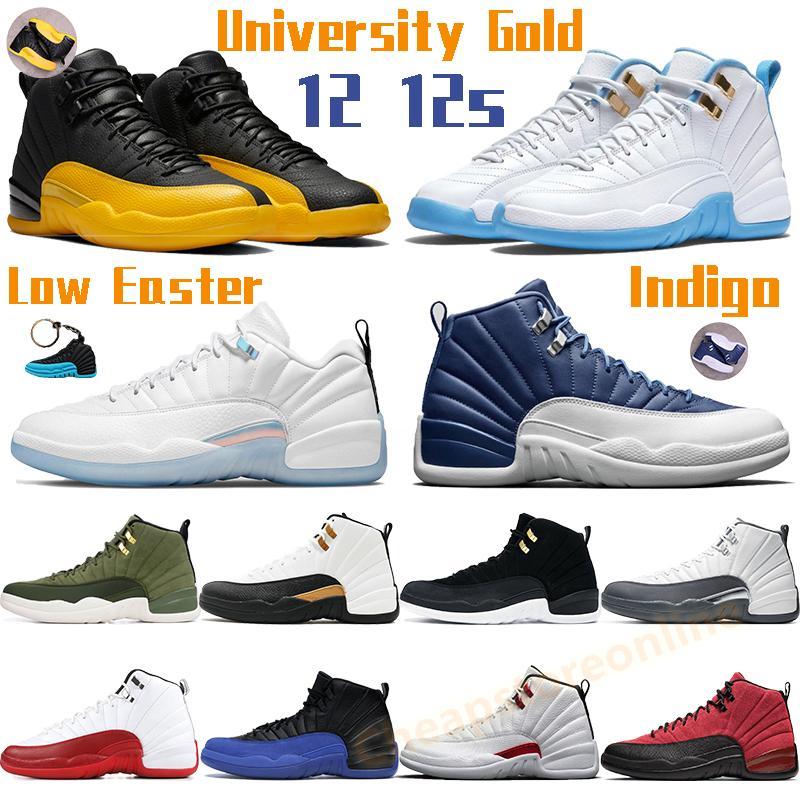 Yüksek Basketbol Ayakkabıları Hava Ürdün 12 12 S Düşük Paskalya Erkek Sneaker Üniversitesi Mavi Altın Indigo Kiraz CNY Büküm Beyaz Koyu Gri Telif Adet Tasarımcı Eğitmenler