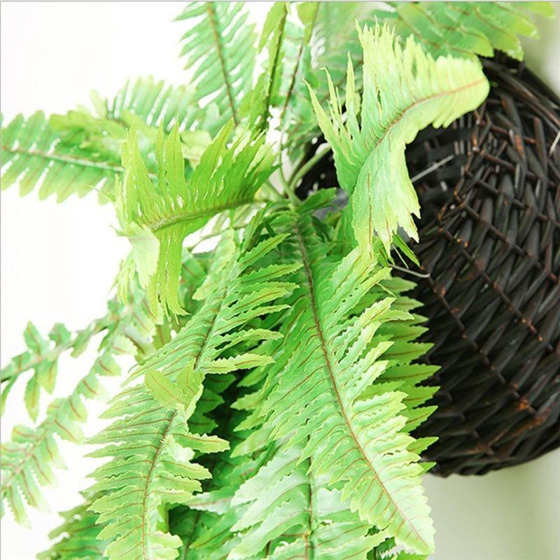 110cm Simulation Persian Leaf Wall Hanging Plant Lawn Leaves Encrypted Green Planted Fake Persian Fern Artificial Plant dsf1034