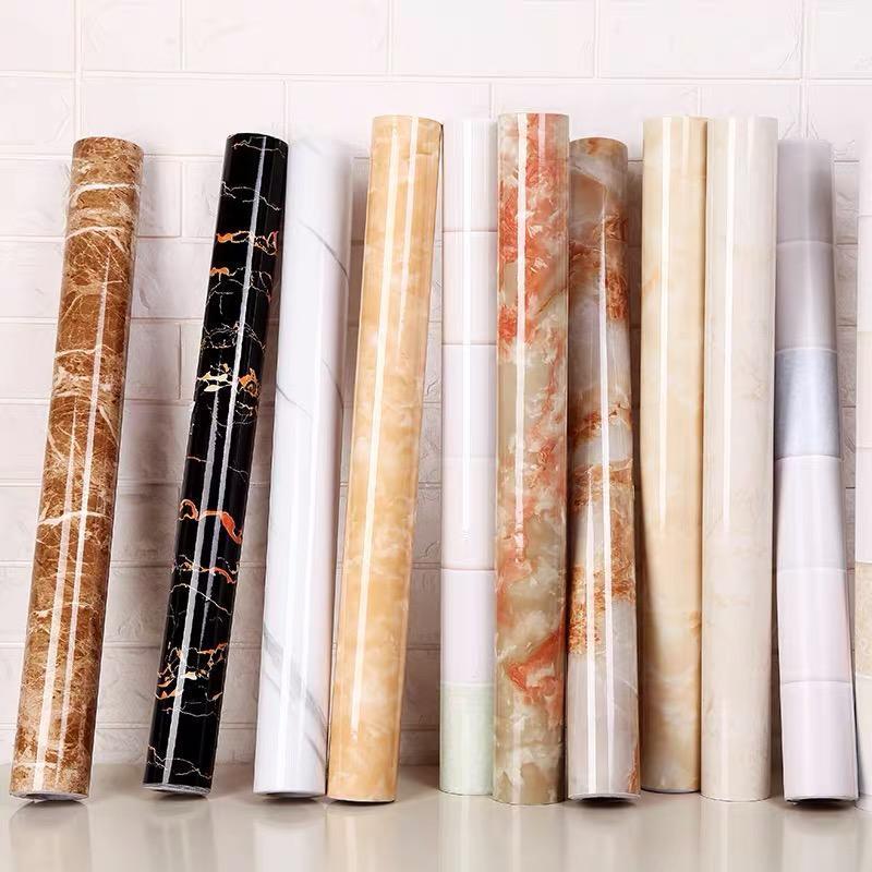 Wallpapers 1M/2M Modern Living Room Furniture Desktop Waterproof Marble Wallpaper Self Adhesive Contact Paper Home Decor