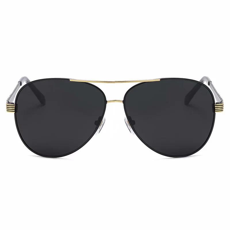 ريترو الرجال النظارات الشمسية للرجال شمس ظلال العدسات الظلام القيادة نظارات 4 اللون الأزرق براون رمادي عدسات سوداء فضية الذهب إطارات معدنية