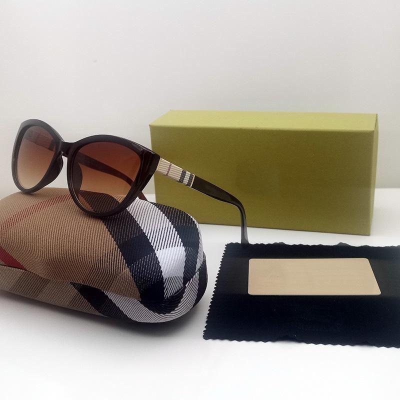 2021 Mode-Accessoires Neueste Sonnenbrille UV400 Full-Frame Rosa Roundglasse Katzen Eye Luxury Designer Herren und Womens Gläsern Valentinstag Geschenke 006