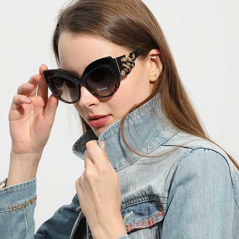 2019 luxus frauen katzeaue sonnenbrille vintage übergroße marke designer snakeskin rahmen einzigartige sonnenbrille männer weibliche schattierungen uv400 a0603