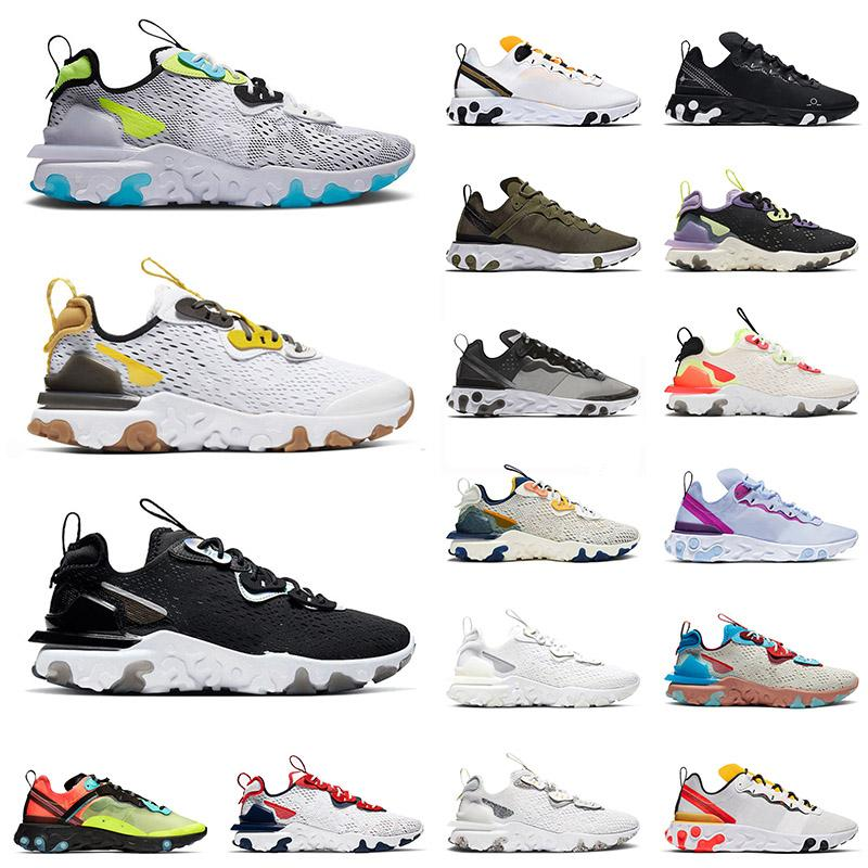 epic nike react vision react element 55 87 Venta al por mayor Mujeres Running Shoes Worldwide Pack White Element 55 Undercover Coming Triple Negro Entrenadores deportivos Zapato