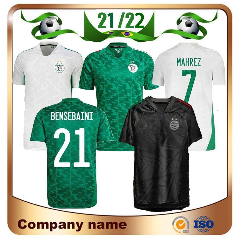 Fans Jogador Versão 2021 África Copa Argélia # 7 Mahrez Jersey 20/21 Home Feghouli Brahimi Belaili BounceJah Maillots De Football Shirt Uniforme Atal