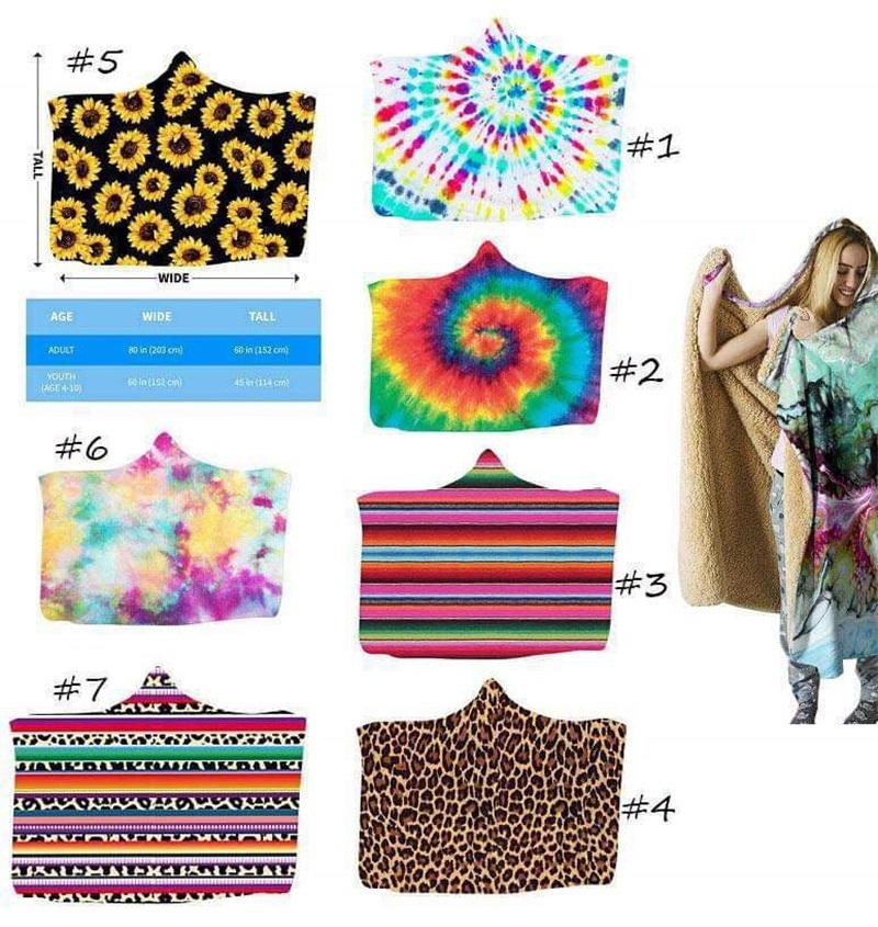 150*130cm Sherpa Blanket Sunflower Floral Striled Leopard 3D Printed Kid Winter Plush Shawl Couch Sofa Throw Fleece Wrap 16 Styles 1285 V2