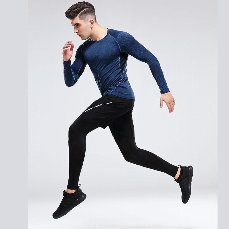 Tre zampe da uomo Elastico Elastic Piece Fitness Sports Tight Gons
