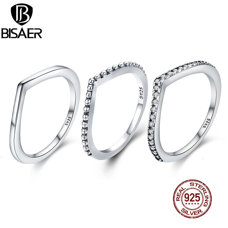 Bisaer Real 925 Sierling Sier Stackable Daisy Flower Flower For Women Ladybug Anillo de compromiso Joyería Anel S925 WEU7628