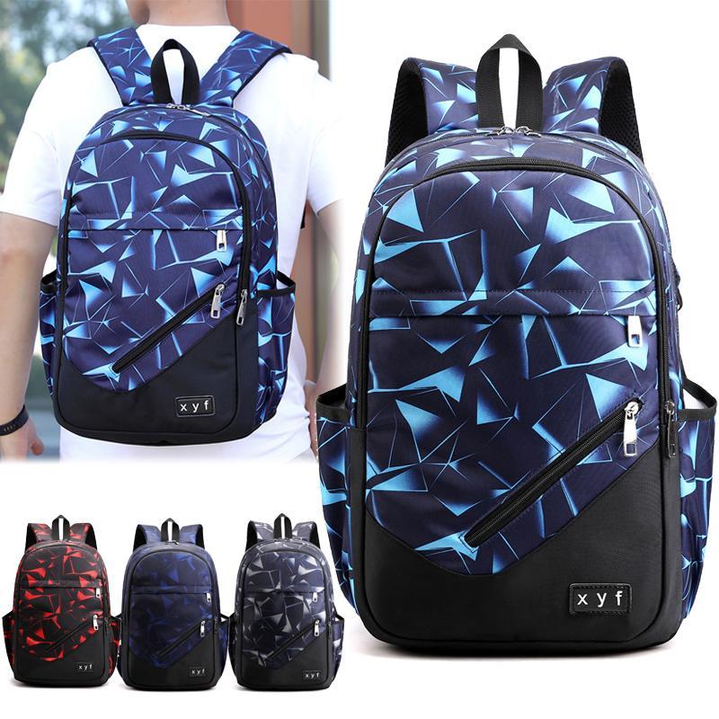 Grande mochila masculina de vidro design homens backapck moda escola sacos para meninos meninas crianças viajar crianças estudante estudante 201114