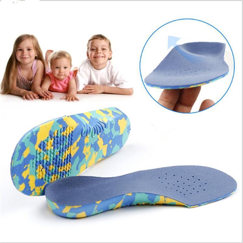 Niños Niños Ortics Plantillas Corrección Herramienta de Cuidado para Niño Pie Foot Arch Soporte Soles de Plantillas Ortopédicas Zapatos deportivos Pads Primeros andadores