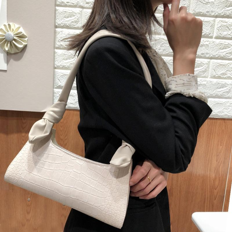 Baguette shape Women Shoulder Bag Crocodile Snake Pattern Luxury Handbag High Quality Female Underarm Bags Party Dinner Tote Bag C0326