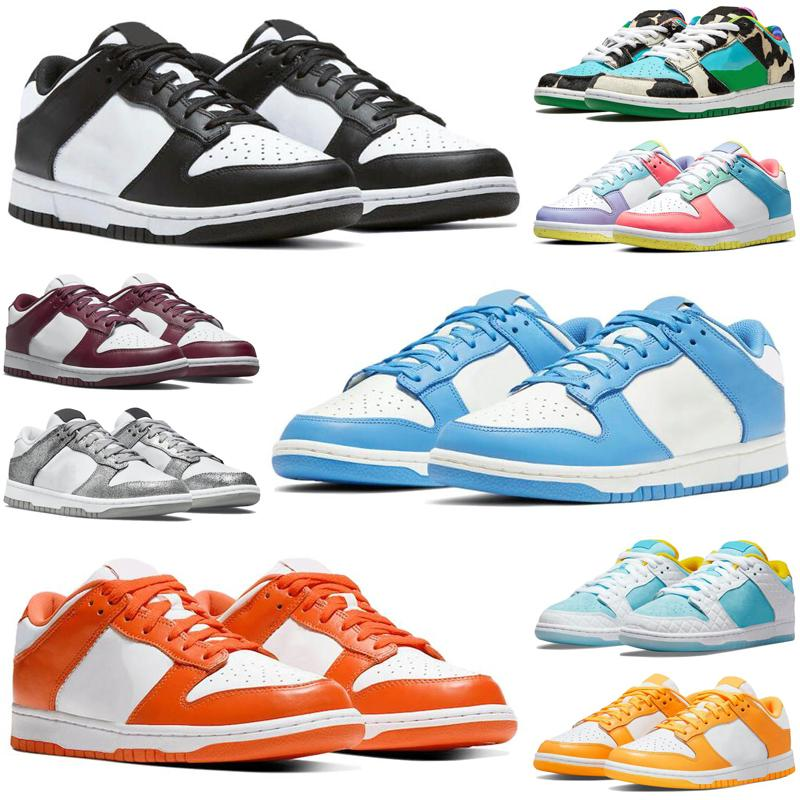 With Tag sb dunk low chunky dunky travis scott mens running shoes University Blue Shimmer Chicago Coast Syracuse Bordeaux dunks men women trainers sports sneakers size 36-45