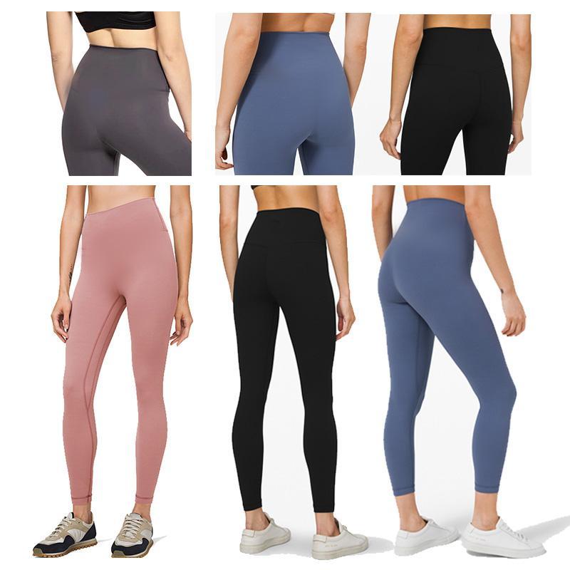EUOKA Color Sólido Pantalones de yoga de cintura alta Gimnasio Gimnasio Medias de cintura Ropa Leggings Elástico Fitness Mujeres 32 Damas General Mallas Completas Entrenamiento