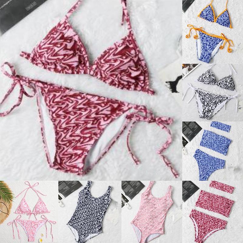Womens Designer Swimwear Biquini Set Summer e Refrescante Estranhas Biquinis Conjuntos De Two-Peça 21ss Swimwears