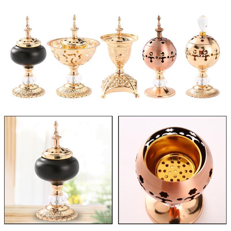 Einfache und hohle Design-Räucherbrenner-Zenkerhalter mit Deckel für Tee Haus Yoga Studio Dekoration Duftlampen