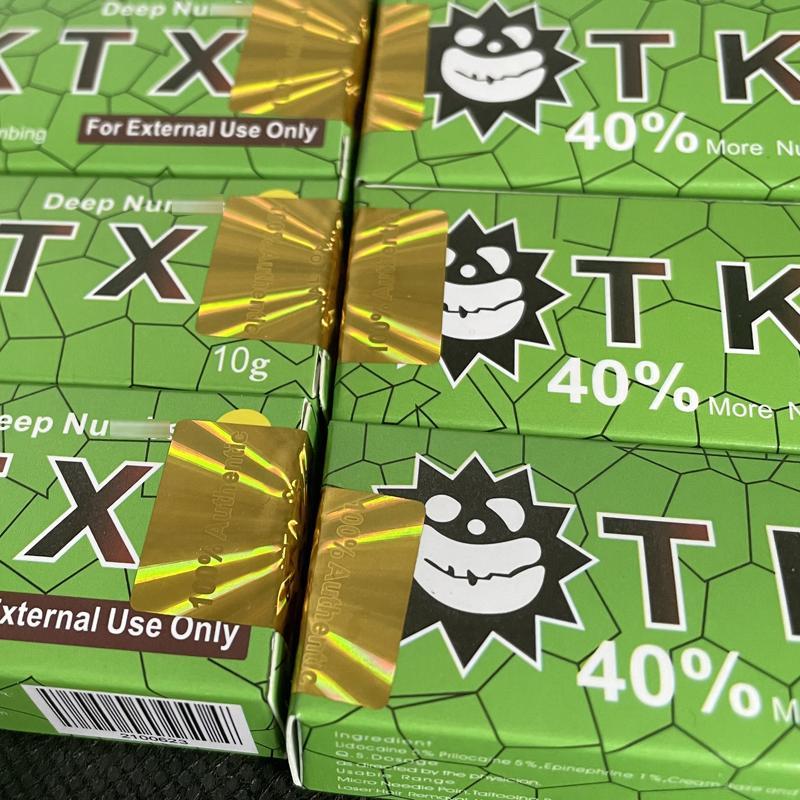 Yeşil 10 adet TKTX Dövme Krem 40% Orijinal 10G Kalıcı Piercing Önce Makyaj Mikroblading Kaş Dudaklar Vücut Cilt