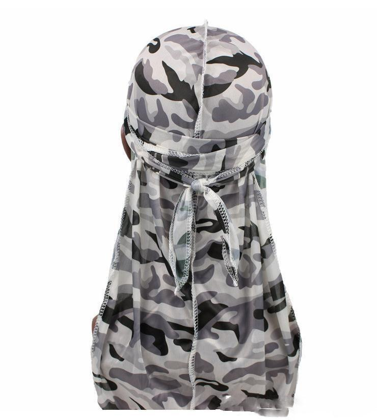 Scarves Silky Durag Women Flower Print Headwear Bandana Hat Du Rag Long Tail Headwrap 2021 High Elastic Spandex TurbAAAA6