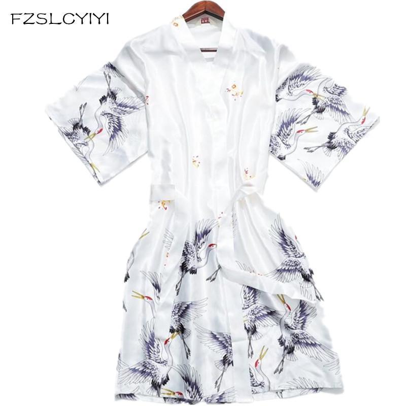 Kadın Pijama FZSLCYIYI Bahar ve Yaz Simülasyon Bornoz Ev Giysileri Bayanlar Için Sabah Elbise Gelin Törenlerinde Nedime Rayon Robe