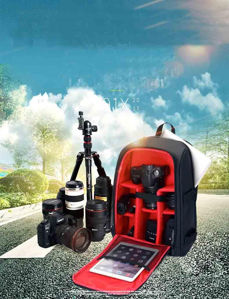 حقيبة كاميرا SLR كتف مهنية للماء ومقاومة للاهتراء