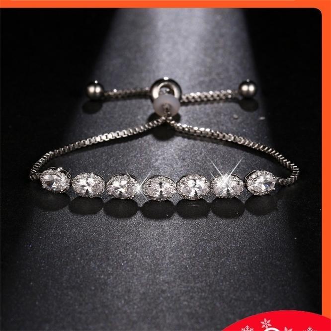 Ovo elegante em forma de zíper zircão e pulseira de zircão versátil