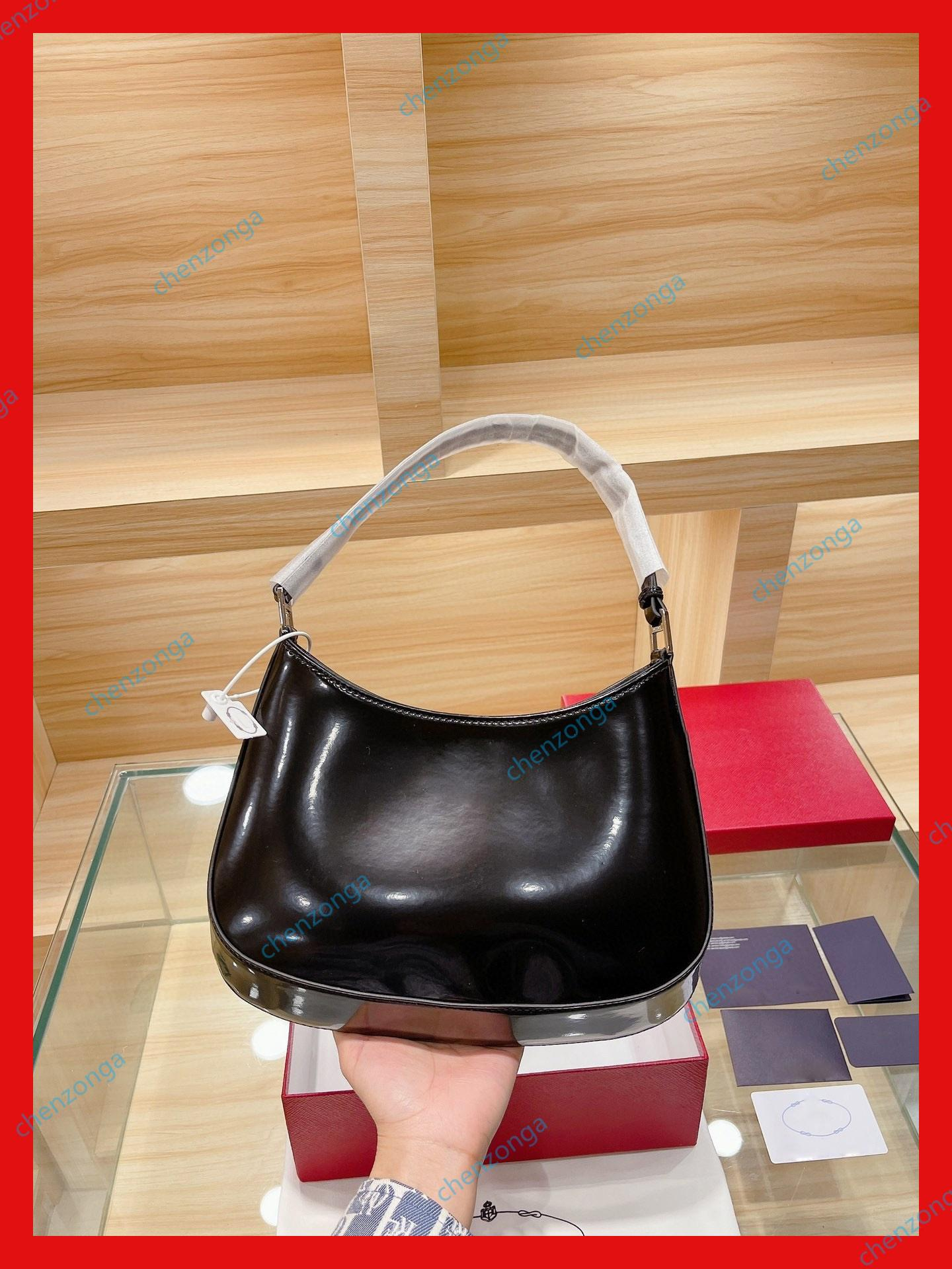 cowhide handbag patent leather armpit bags small net red bag eternal classic light fashion trendy musthave