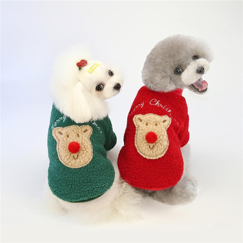 Hundebekleidung Weihnachtskleidung Kleine niedliche Bär Hunde Kostüm Für Pug Chihuahua Yorkshire Pet Katze Kleidung Jacke Mantel Haustiere