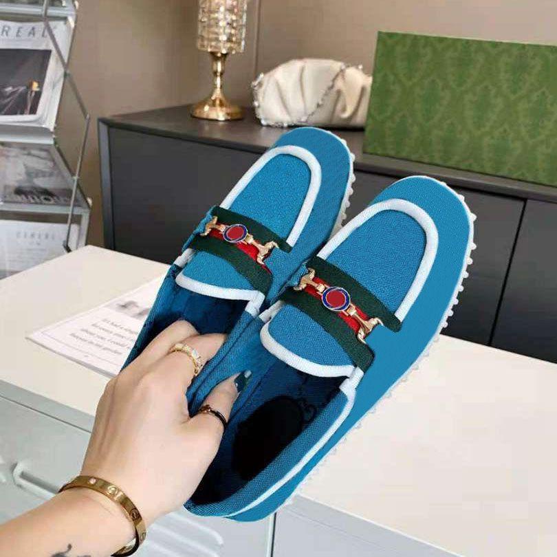 Diseñadores de lujo Zapatos perezosos Tecnología oblicua Transpienes de lienzos Zapatillas de deporte Hombres Mujeres Pasas de moda Plataforma exterior