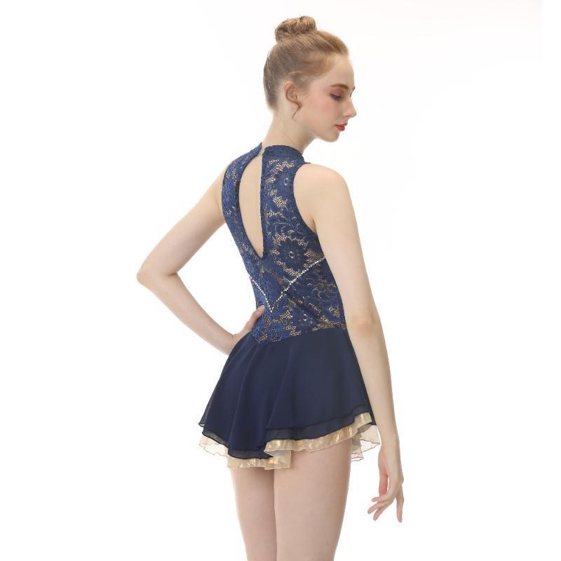 Vestito da pattinaggio su ghiaccio personalizzato Figura di marca graziosa per l'usura della fase della concorrenza