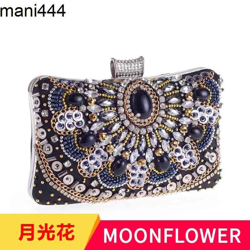Heißer Verkauf frauen Taschen Nagelte Perlen Handinlaid mit Diamanthand abend Abendessen Tasche 1277 Kleines Platz
