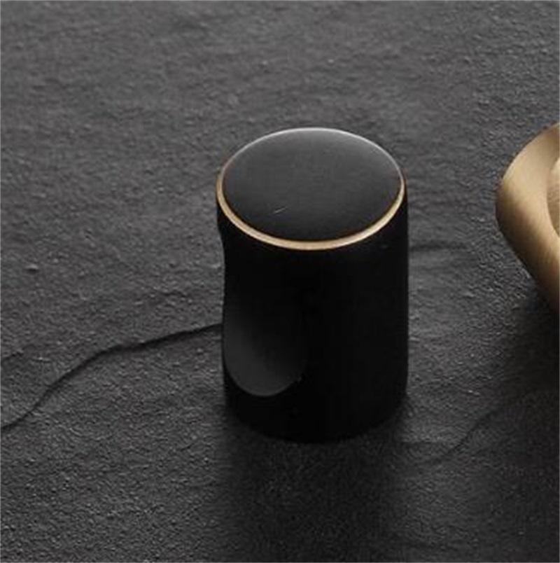 Katı Pirinç Siyah Dolap Topuzu Mobilya Dresser Mutfak Dolap Çekmece Knob Çekin Kolu Toptan Mobilya Donanım Aksesuar 486 V2