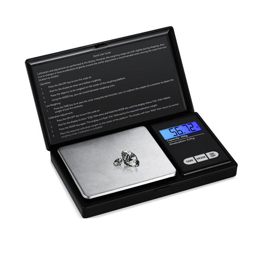 Digital Scale Pocket Mini Electric Scales Flip Style with LCD Display 100g 200g 500g Range 0.01g for Jewelry Diamond Weigher Balance