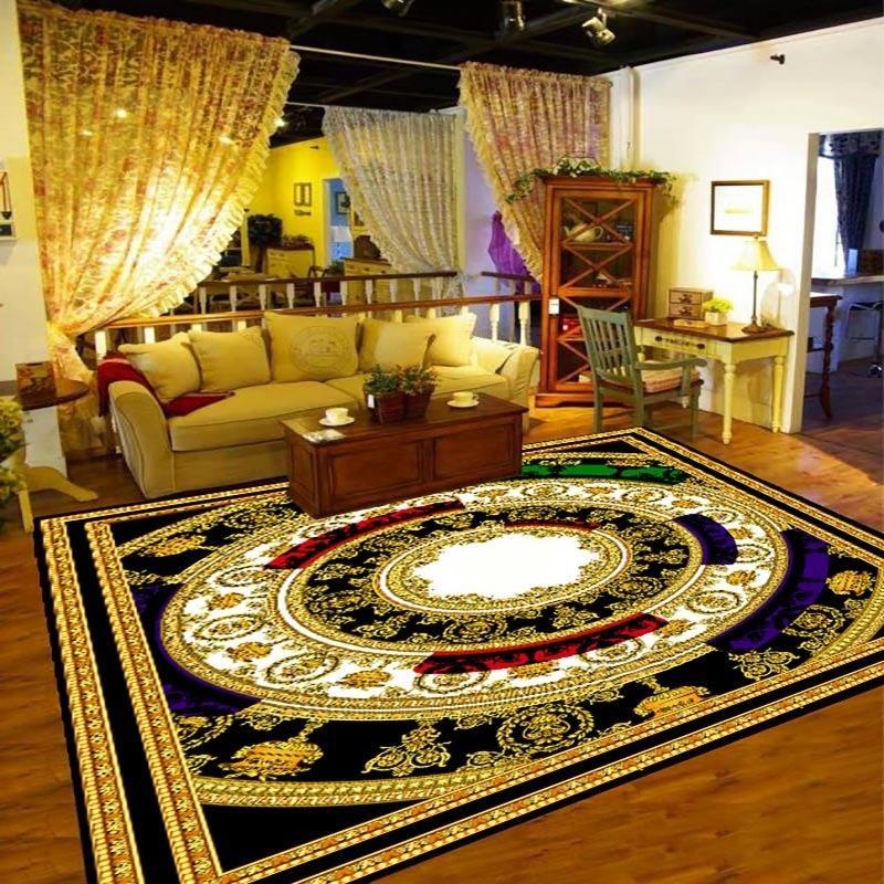 Anti-patín de estampado 3D sala de estar Alfombra grande Estudio de la alfombra de la alfombra de té de la mesa del té del vestíbulo de la puerta del vestíbulo de la ventana de la bahía de la ventana de la bahía Fácil Lavar 231