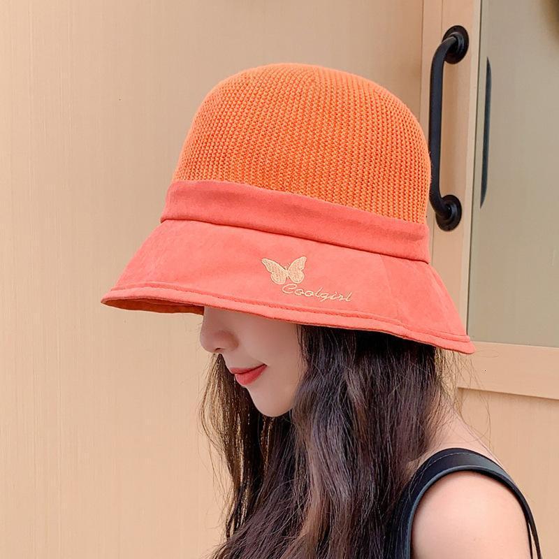 Cappello da sole da donna con cappello da donna con cappello a bucket con cappello da sole all'aperto Sunscreen ricamato