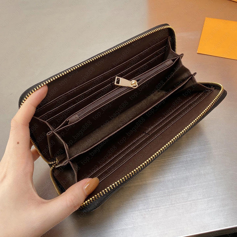 Frauen Luxurys Designer Brieftaschen 2021 Gradienten Blumen Buchstaben Logos Geprägte Luisvutton Geld Clip Münze Geldbörsen Kreditkarteninhaber Reißverschluss lange kurze Brieftasche