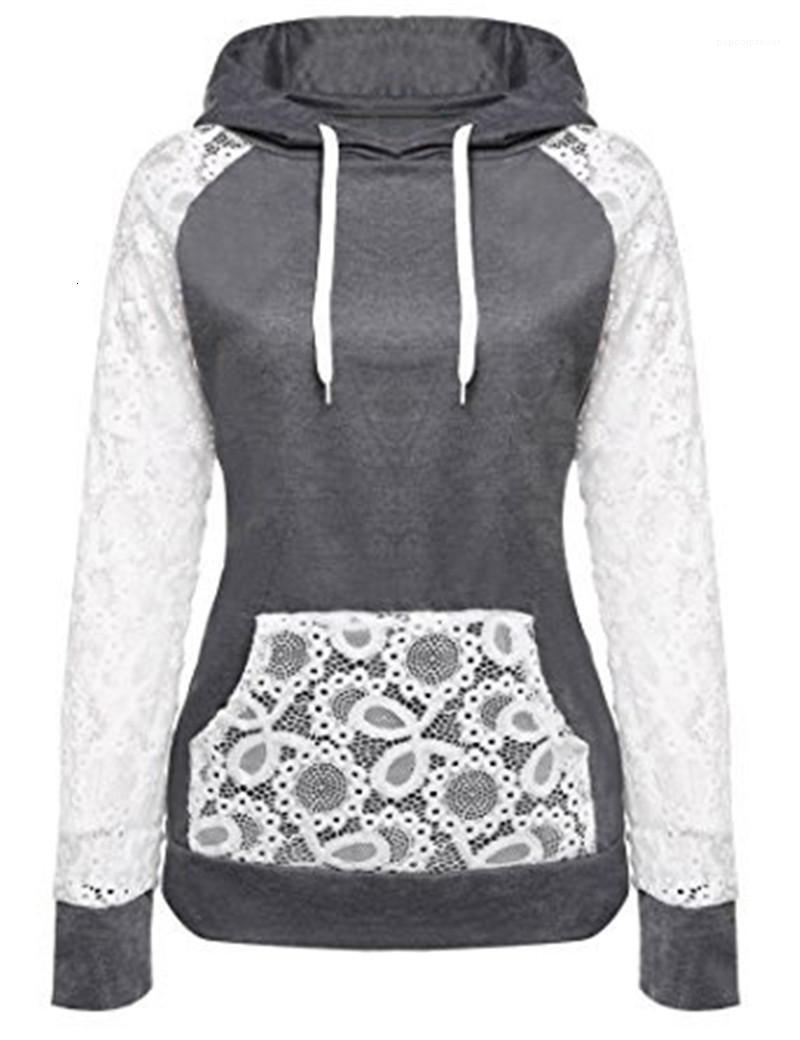 Frauen Frauen Kleidung Herbst Designer Hoodies Massivfarbe Täsche Spitze Kordelzug Tasche Dicke Damen Sweatshirts Slim atmungsaktiv