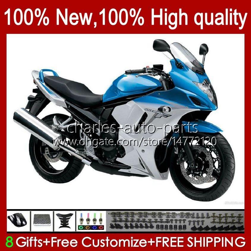 Körper für Suzuki Katana GSXF 650 GSXF650 GSX650F BodyWorks 18HC.26 GSX-650F Cyan White BLK2008 2009 2010 2011 2012 2013 2013 2014 GSX 650F GSXF-650 08 09 10 11 12 13 14 Verkleidung