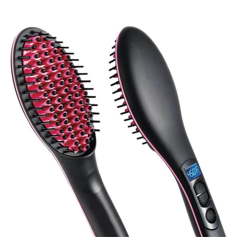 Electric Hair Brushes 3D Ceramic Straightener Comb Care Simply Fast Straightening Irons Brush Styling