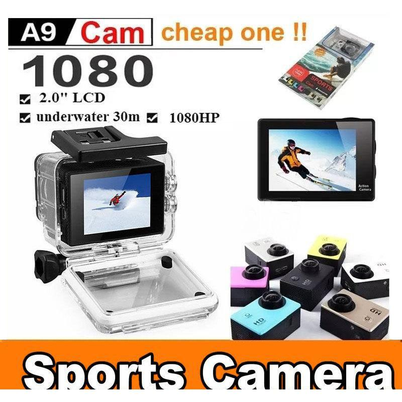 For SJ4000 A9 Style 2 Inch LCD Screen Mini Sports Camera 1080P Full HD Action Cameras 30M Waterproof Camcorders Helmet Sport DV